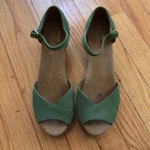 Toms wedges. Only worn a couple times!